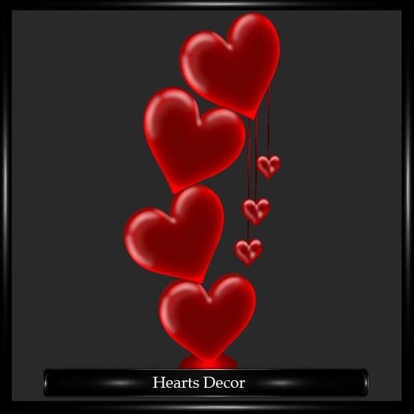 Hearts Decor Mesh