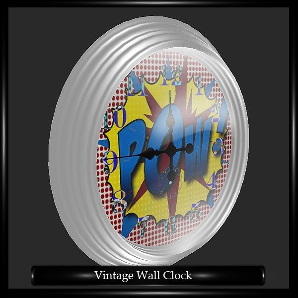 Retro Wall Clock Mesh