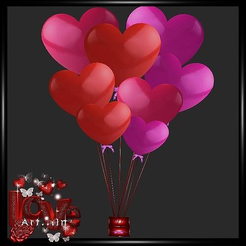 Heart Baloons Mesh