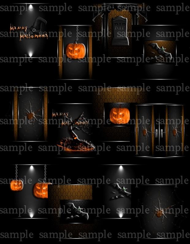 Halloween Mania Textures (Fire,Purple,Teal)