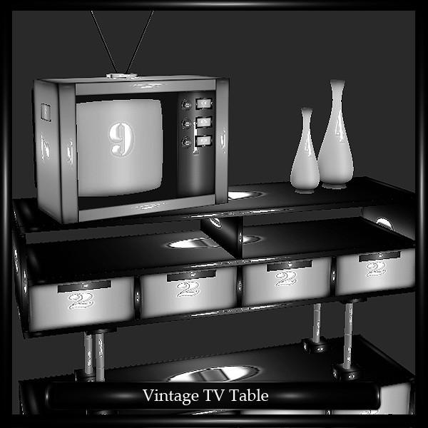 Retro TV Table Mesh