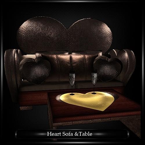 Heart Sofa & Table Mesh