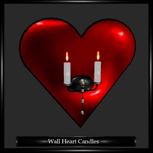 Wall Heart Candles Mesh