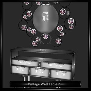 Retro Wall Table Mesh v.2