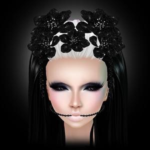 Glitter Head Flowers Mesh