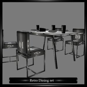 Retro Dining Set Mesh