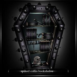 Spiked coffin bookshelve Mesh
