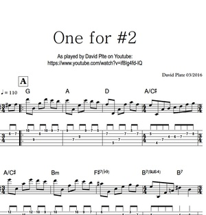 ONE FOR #2 (David Plate) - TABs + Notation