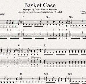 BASKET CASE (Green Day) - Fingerstlye Arrangememt (TABs + Notation)