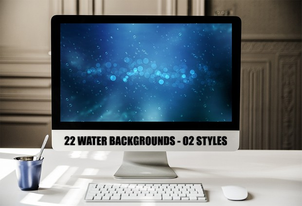 22 WATER BACKGROUNDS - O2 STYLES