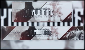 Pre-Made Youtube Banner and Twitter Header