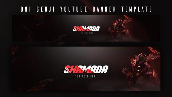 Oni Genji YouTube Banner Template | Overwatch Design | by John Chua