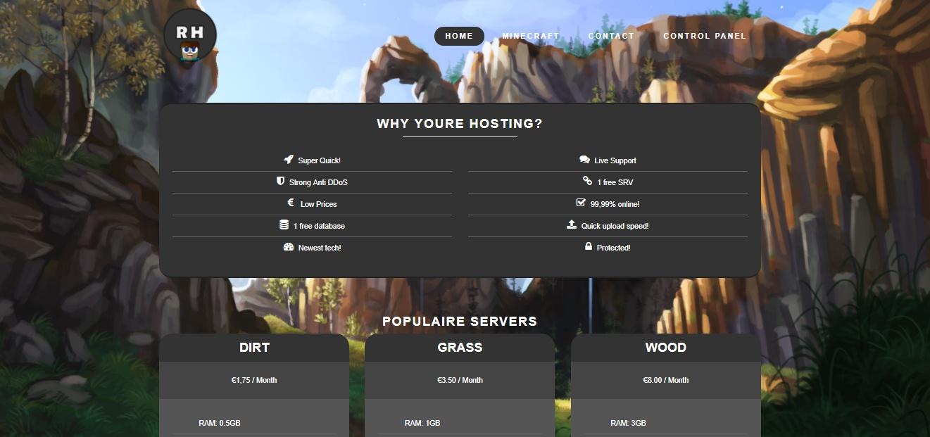 Шаблон для хостинга minecraft как открыть хостинг изображений