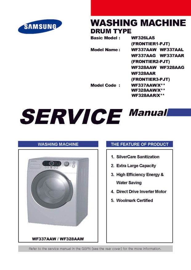 Samsung wf328aaw manual.
