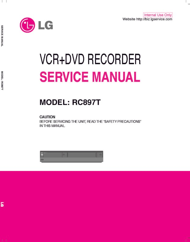 Lg dvd-vcr-combo-xbv-441 service manual download, schematics.