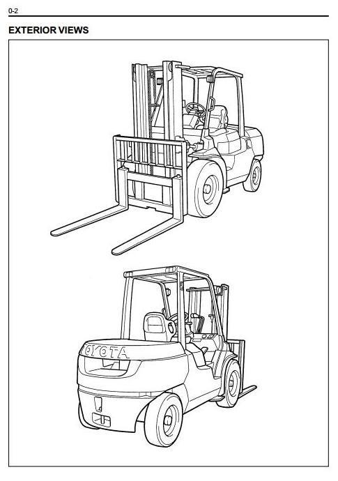 Toyota Diesel Forklift Truck 7FD35, 7FD40, 7FDK40, 7FD