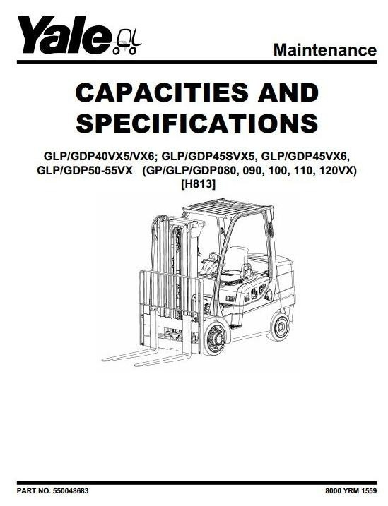 Yale (H813) Forklift Truck GP/GLP/GDP-080VX/090VX/100V