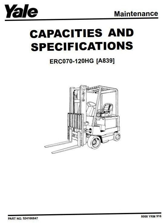 Yale Electric Forklift Truck Type A839: ERC070HG, ERC0