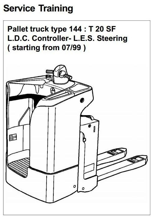 Linde Pallet Truck Type 144: T20SF Service Training M