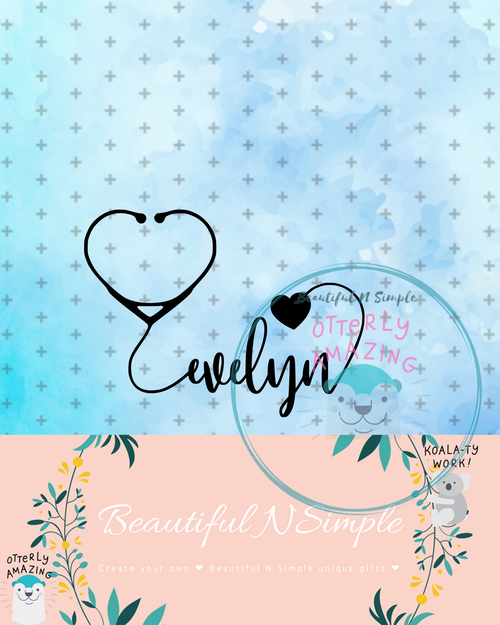 Evelyn Heart Stethoscope Svg And Dxf File Beautifulnsimple