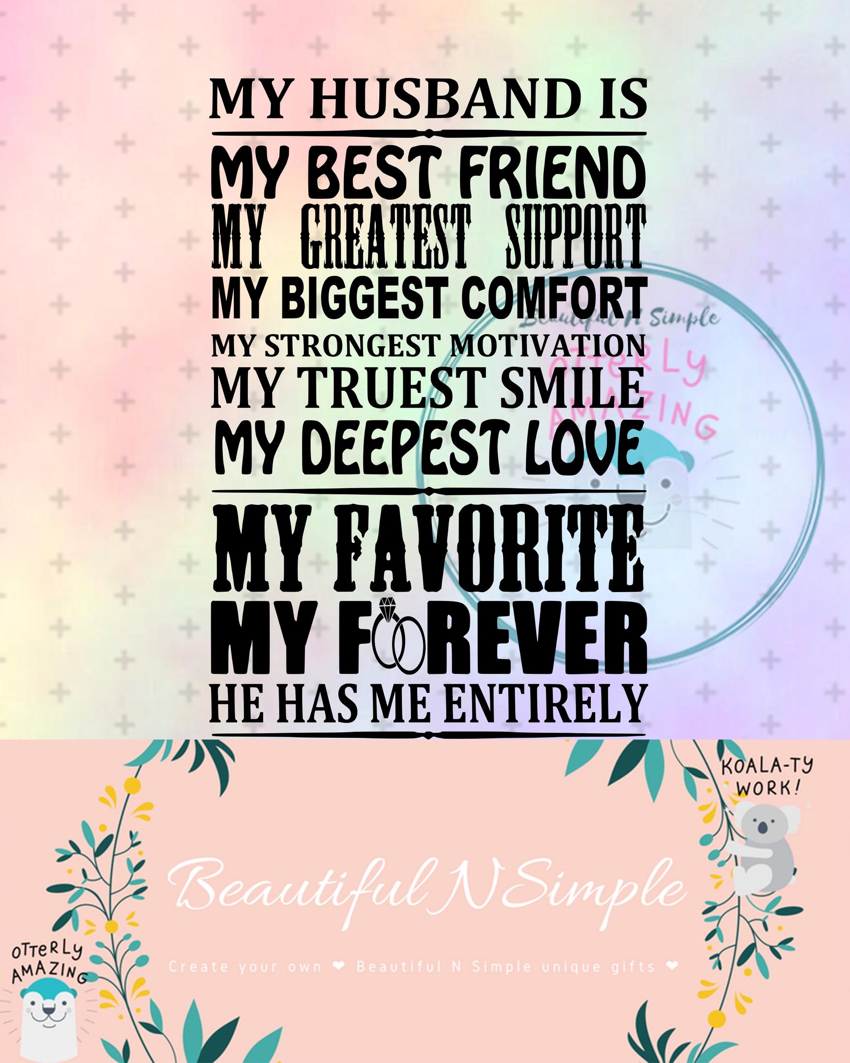 My best friend is beautiful