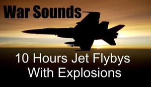 Ambience Hub - War Sounds - Jet Flybys with Explosions