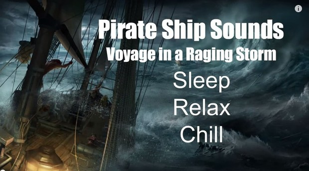 Ambience Hub - Pirate Sounds -  Voyage in a Raging Storm - 10 Hours