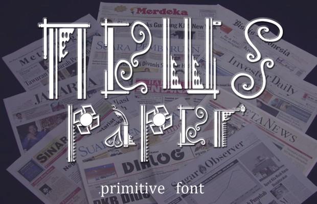 primitive Typeface