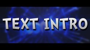 TEXT INTRO / 1080p60fps