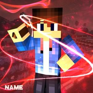 Minecraft Logo Template By Trustfx (BLUE)