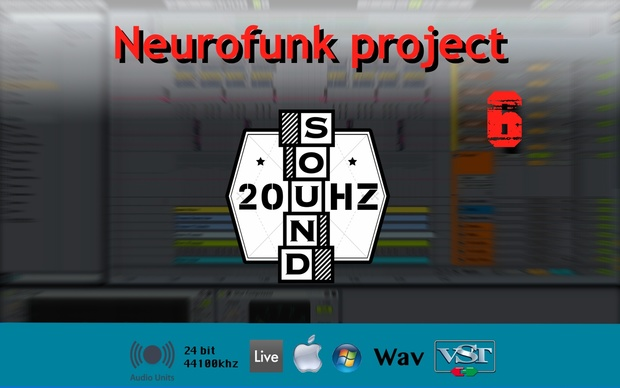 [Full]Neurofunk project 6 [Ableton live w/FREE Pluguins]
