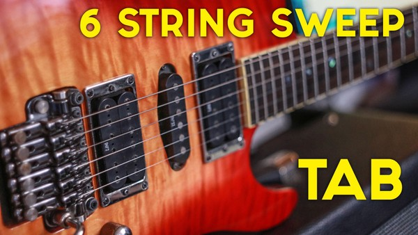 6 String SWEEP Picking TAB