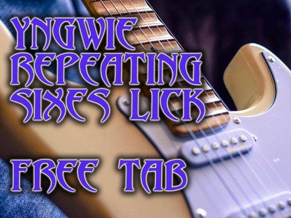 Yngwie Malmsteen Style 6 Note Pattern - Free TAB