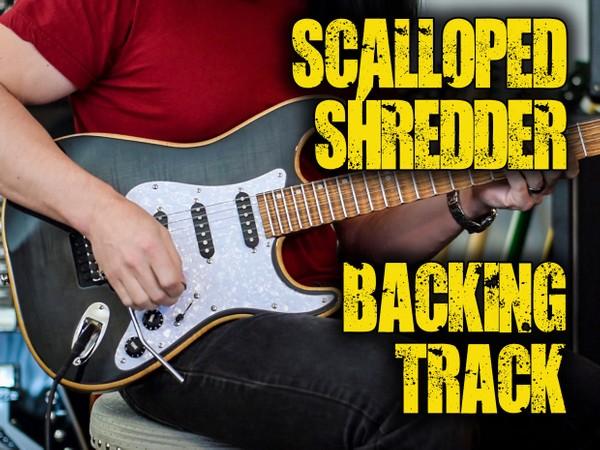 Scalloped Shredder Backing Track