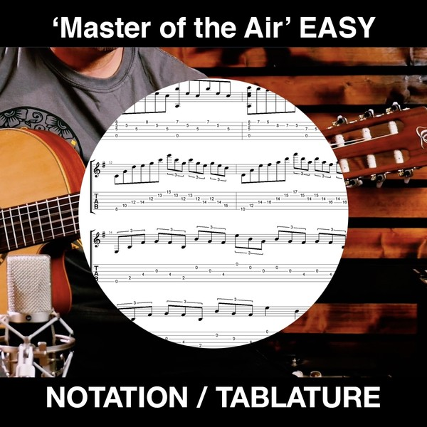Master of the Air - Easy/Int. Spanish Guitar Tabs & Notation