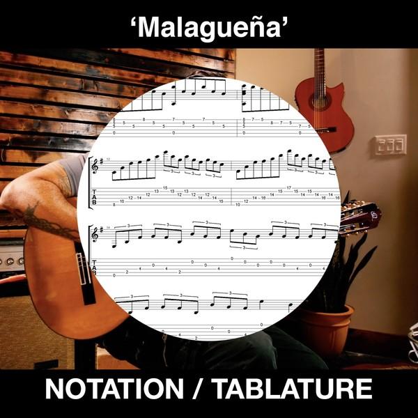 Malagueña - Ben Woods - Notation and Tablature