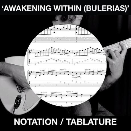Awakening Within (Bulerias) Tabs & Notation