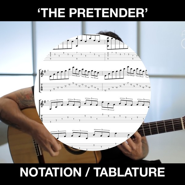 'The Pretender'(Foo Fighters) for Solo Guitar - Standard Notation & Tablature
