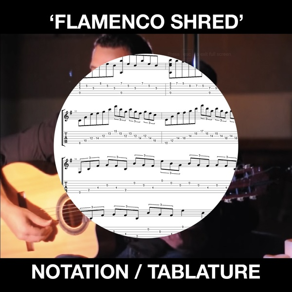 FLAMENCO SHRED - SOLO FLAMENCO GUITAR - TAB and NOTATION - Ben Woods