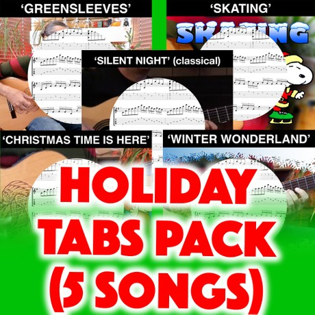 HOLIDAY TABS PACK (5 SONGS)