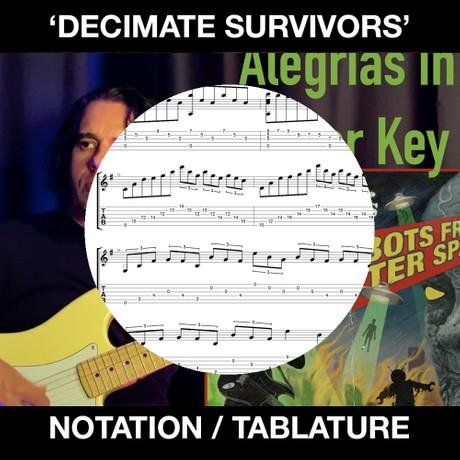 Decimate Survivors (Minor Alegrias) Tabs & Notation