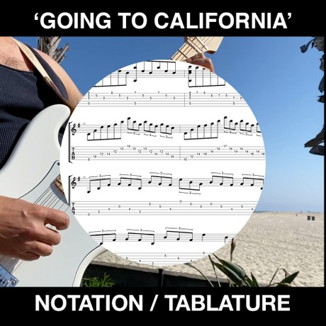 GOING TO CALIFORNIA (solo guitar)