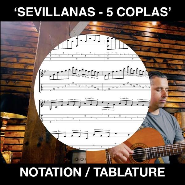 SEVILLANAS 5 Coplas - Tabs