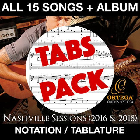 TABS PACK - Nashville Sessions Album + Tabs & Notation to ALL 15 SONGS!