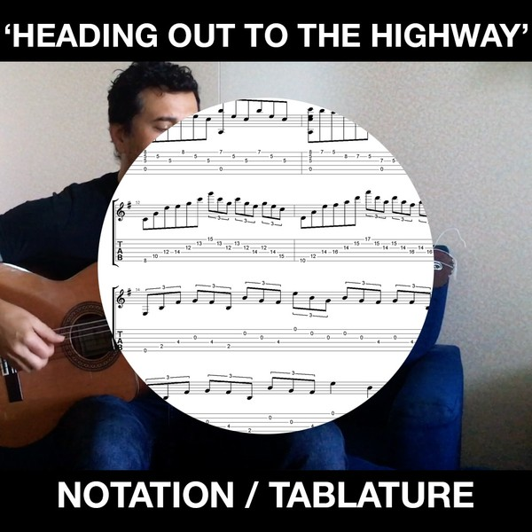 Heading Out to the Highway (Judas Priest) - Solo Flamenco Guitar (Standard Notation and Tabs)