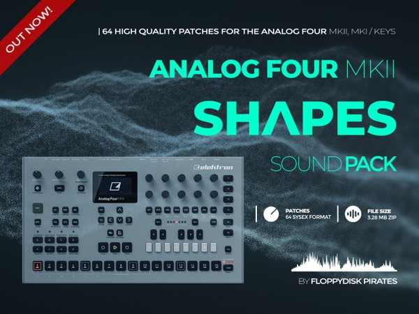 Elektron Analog Four MKII,MKI / Keys- Shapes Sound Pack