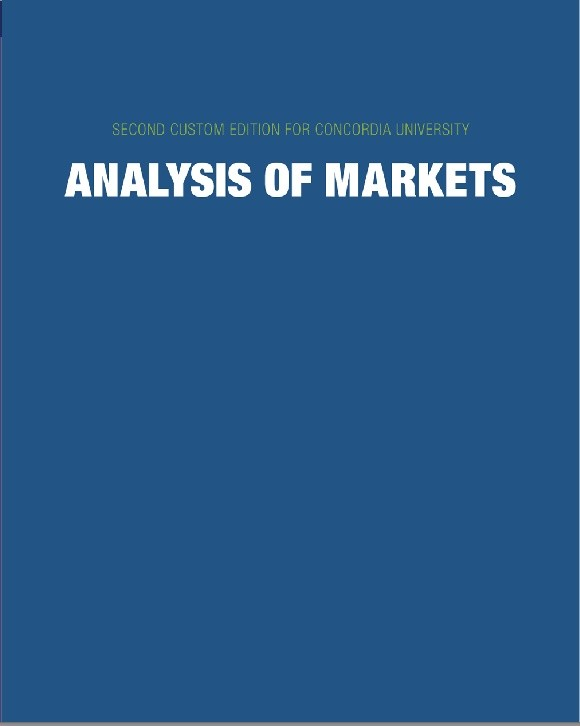 ANALYSIS OF MARKETS, 2ND CONCORDIA CUSTOM EDITION