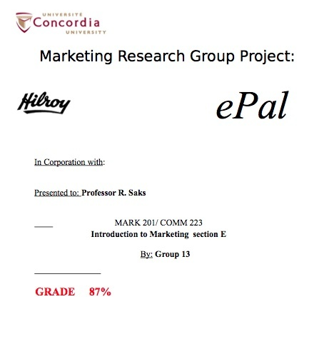 COMM 223/ MARK 201 MIDTERMS, FINAL, FINAL REPORTS & LECTURE NOTES (3 EXAMS)