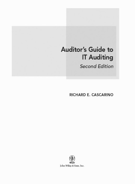 AUDITOR'S GUIDE TO IT AUDITING 2nd ED