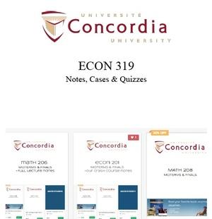 ECON 319 NOTES, CASES, & QUIZZES